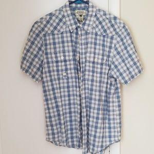 American Rag Plaid Short Sleeve Button Down
